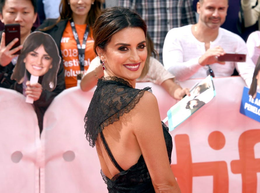 "Penelope Cruz attends the gala for ""Everybody Knows"" on day 3 of the Toronto International Film Festival at Roy Thomson Hall on Saturday, Sept. 8, 2018, in Toronto. (Photo by Evan Agostini/Invision/AP) ORG XMIT: CANPM114"