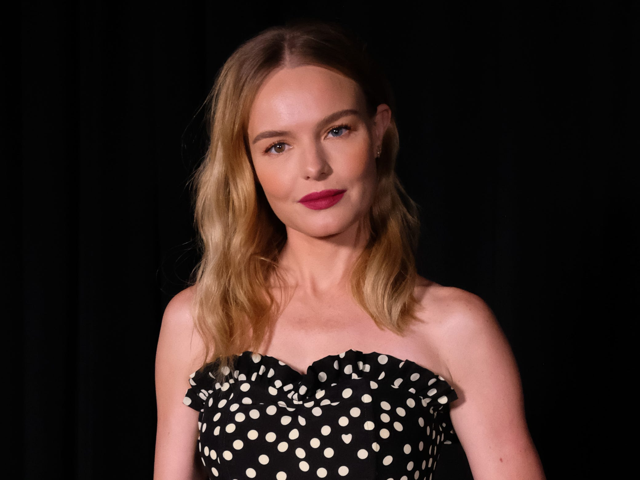 NEW YORK, NY - SEPTEMBER 09:  Kate Bosworth poses backstage at Escada for New York Fashion Week on September 9, 2018 in New York City.  (Photo by Nicholas Hunt/Getty Images) ORG XMIT: 775216379 ORIG FILE ID: 1029945454
