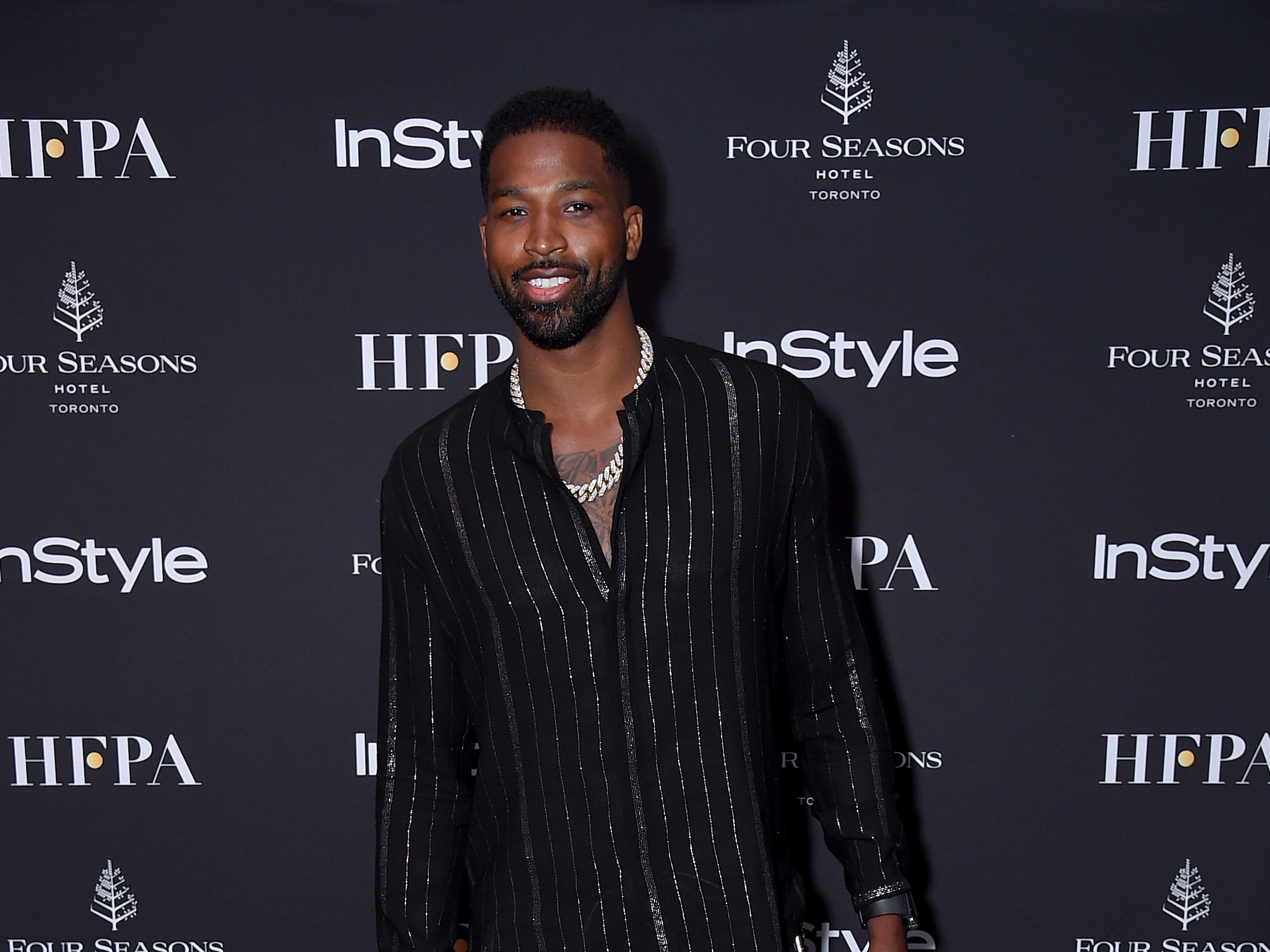 TORONTO, ON - SEPTEMBER 08:  Tristan Thompson attends The Hollywood Foreign Press Association and InStyle Party during 2018 Toronto International Film Festival at Four Seasons Hotel on September 8, 2018 in Toronto, Canada.  (Photo by Michael Loccisano/Getty Images,) ORG XMIT: 775218497 ORIG FILE ID: 1029659176