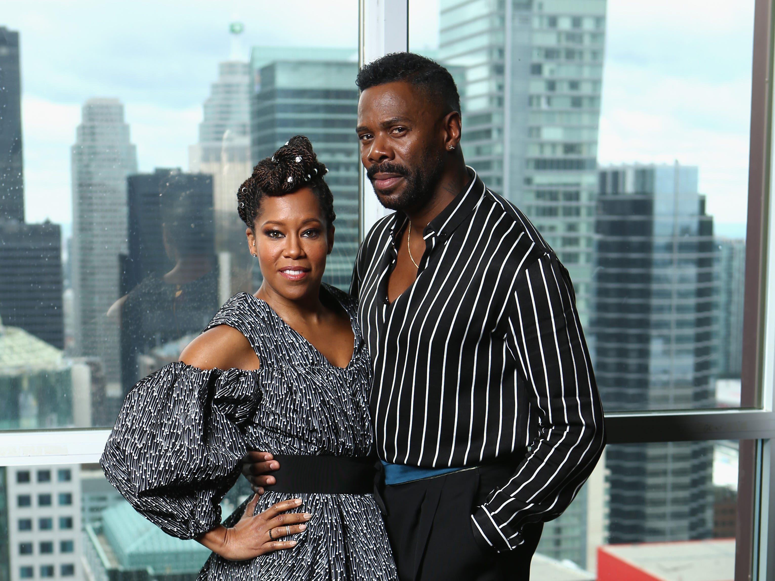 "TORONTO, ON - SEPTEMBER 09: Regina King (L) and Colman Domingo of ""If Beale Street Could Talk"" attend The IMDb Studio presented By Land Rover At The 2018 Toronto International Film Festival at Bisha Hotel & Residences on September 9, 2018 in Toronto, Canada.  (Photo by Rich Polk/Getty Images for IMDb) ORG XMIT: 775215199 ORIG FILE ID: 1029881888"