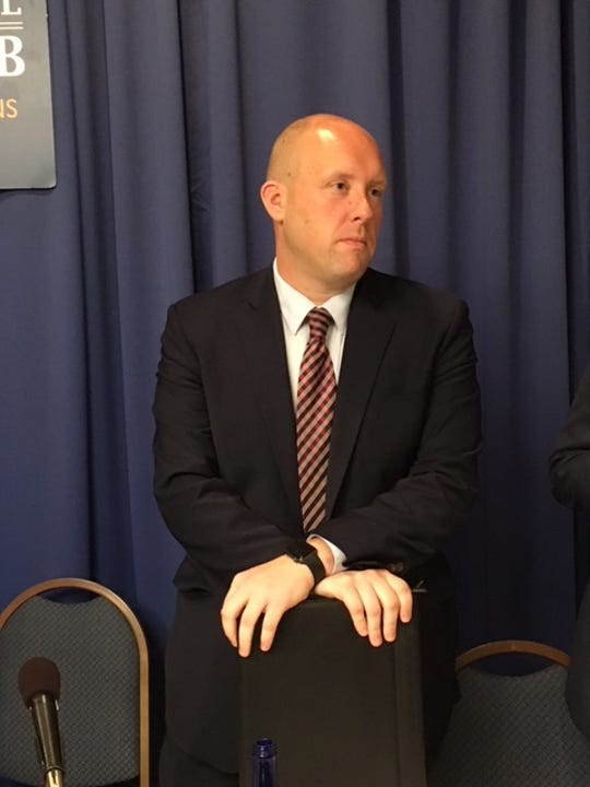 Kyle Kondik of the University of Virginia Center on Politics discusses elections with reporters Aug. 28, 2018, at the National Press Club in Washington, D.C.