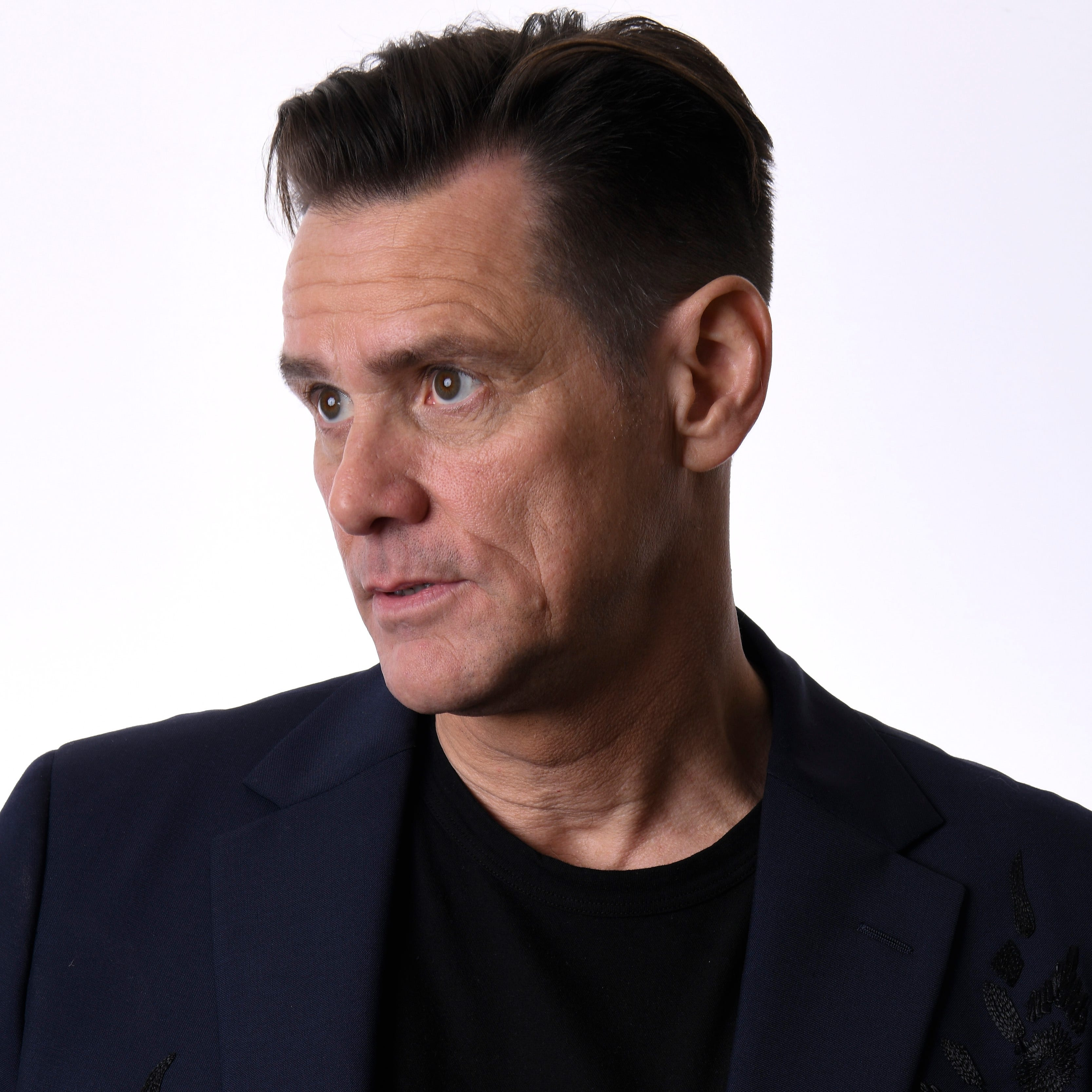 "Jim Carrey, who stars in Showtime's new comedy series, ""Kidding,"" has been drawing attention lately for his political art, especially caricatures of President Donald Trump."