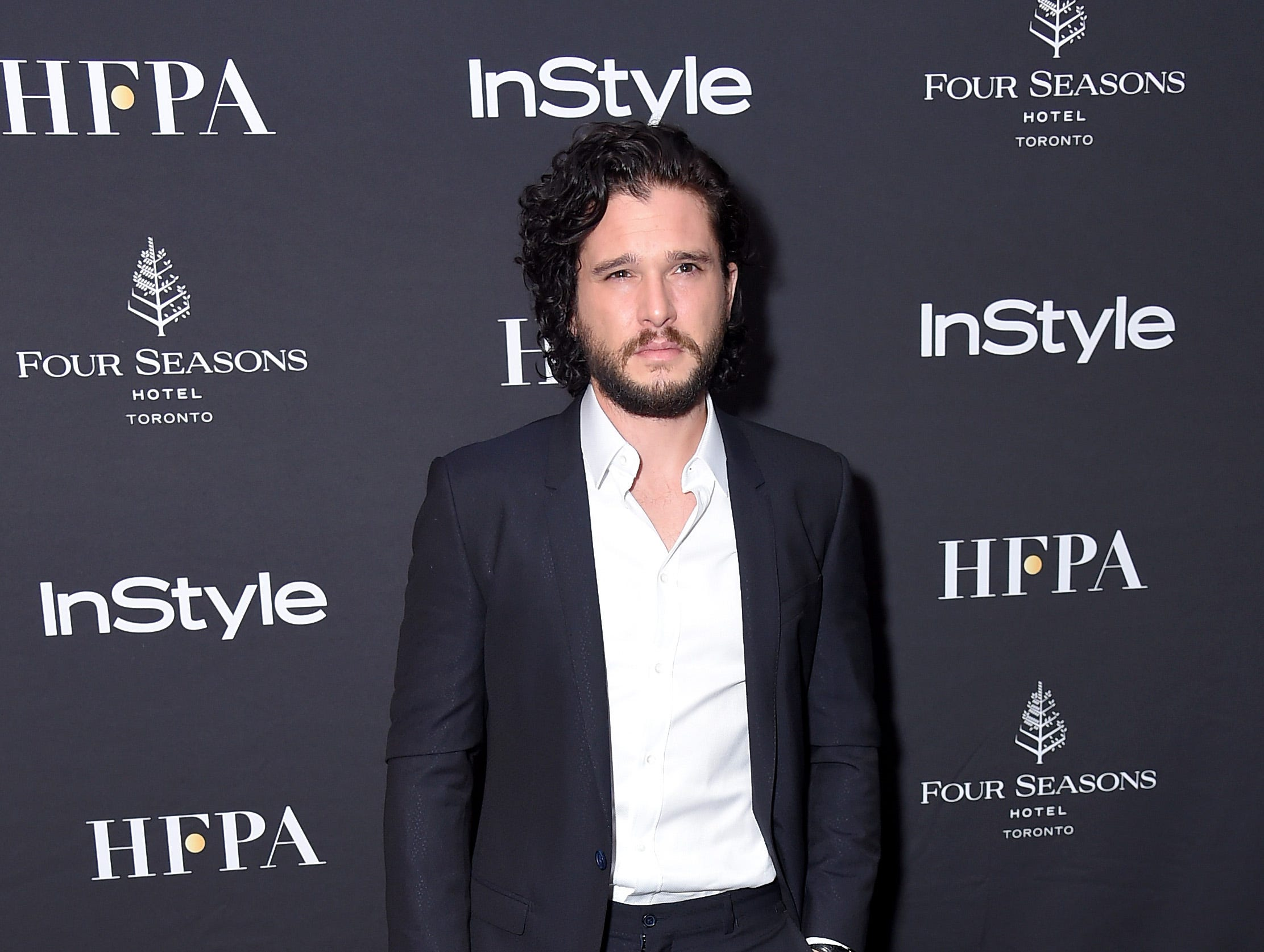 TORONTO, ON - SEPTEMBER 08:  Kit Harington attends The Hollywood Foreign Press Association and InStyle Party during 2018 Toronto International Film Festival at Four Seasons Hotel on September 8, 2018 in Toronto, Canada.  (Photo by Michael Loccisano/Getty Images,) ORG XMIT: 775218497 ORIG FILE ID: 1029587662