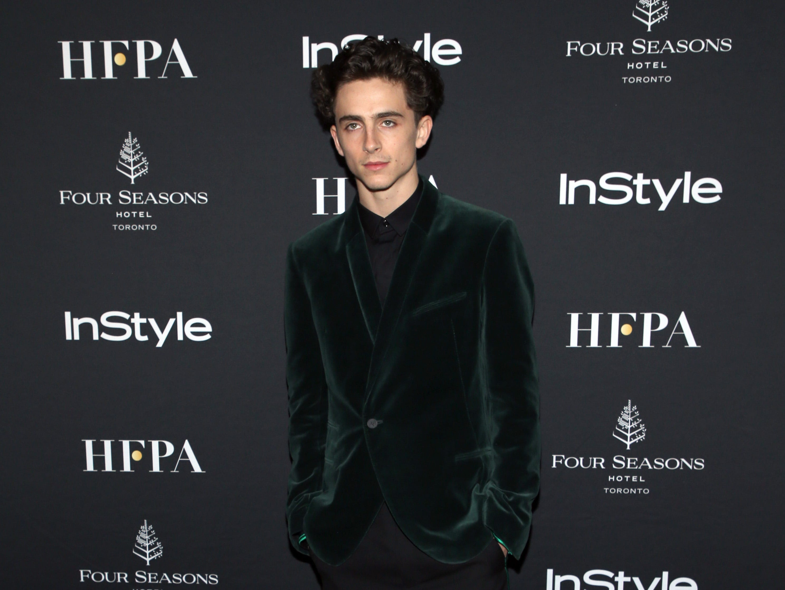 TORONTO, ON - SEPTEMBER 08:  Timothee Chalamet   attends The Hollywood Foreign Press Association and InStyle Party during 2018 Toronto International Film Festival at Four Seasons Hotel on September 8, 2018 in Toronto, Canada.  (Photo by Phillip Faraone/WireImage) ORG XMIT: 775218499 ORIG FILE ID: 1029631758