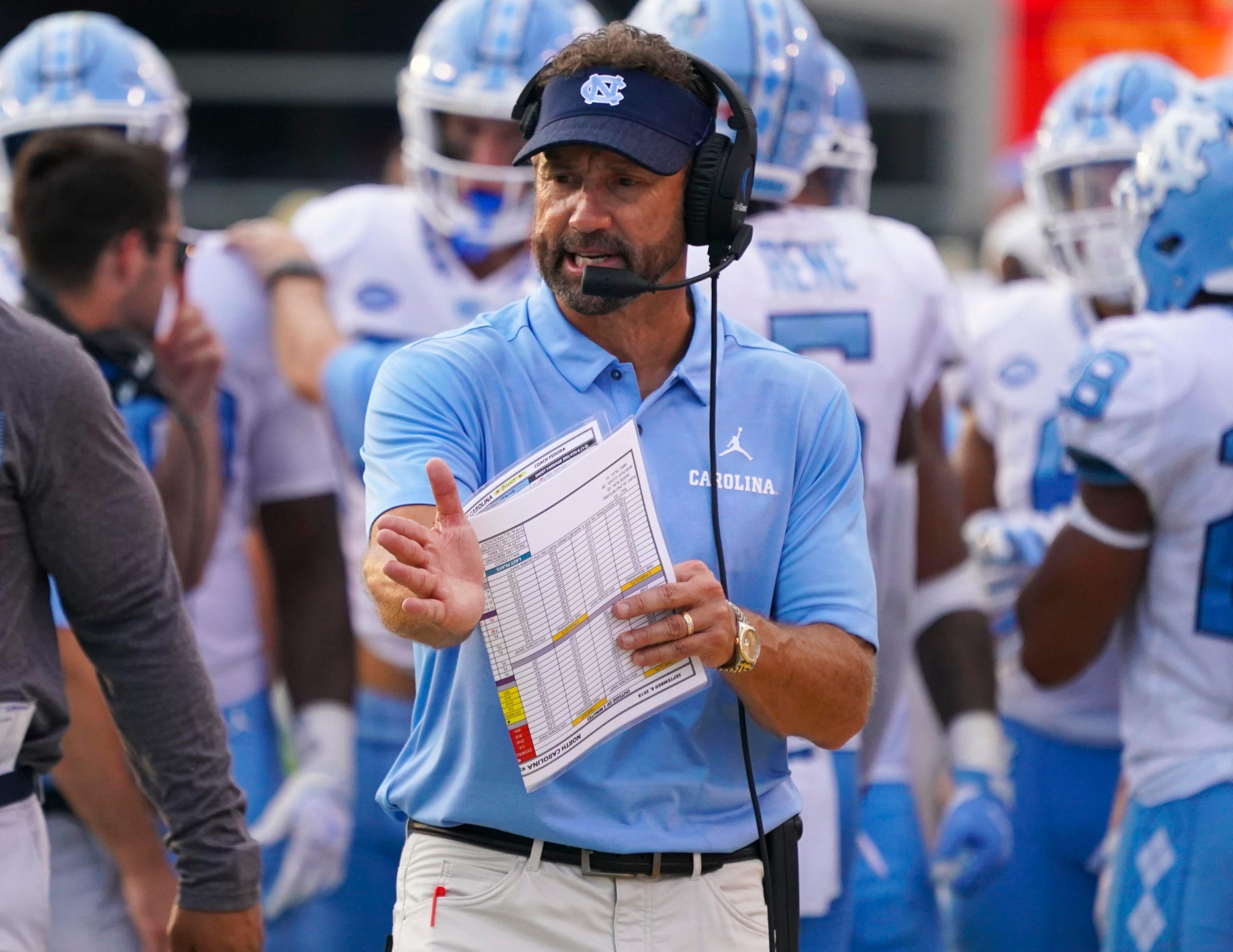 north carolina football coach