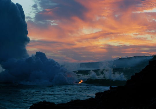 Lava leads to water vapor in Hawaii.