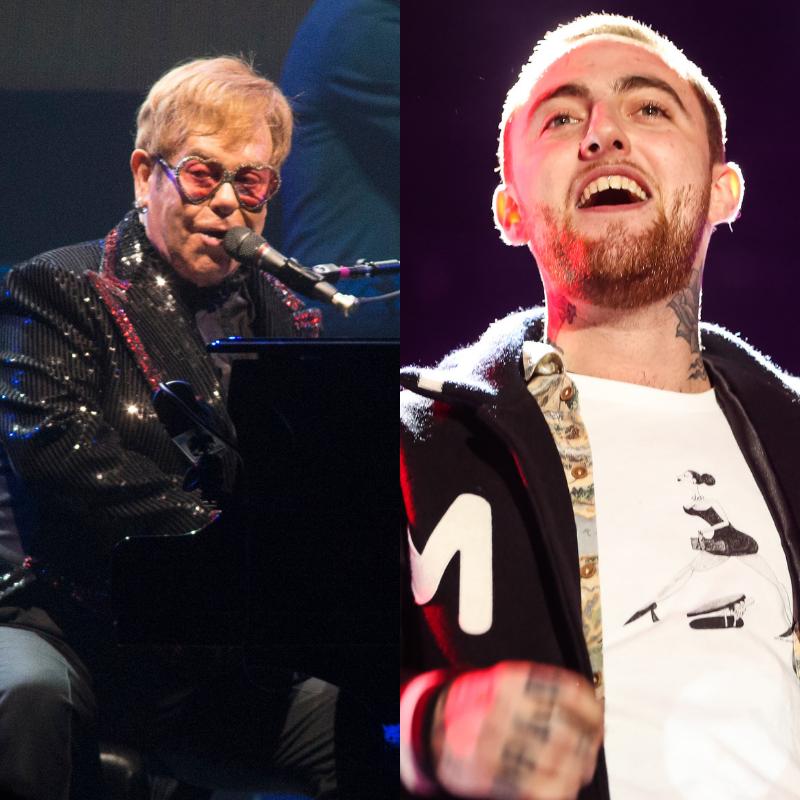 Elton John and Mac Miller.