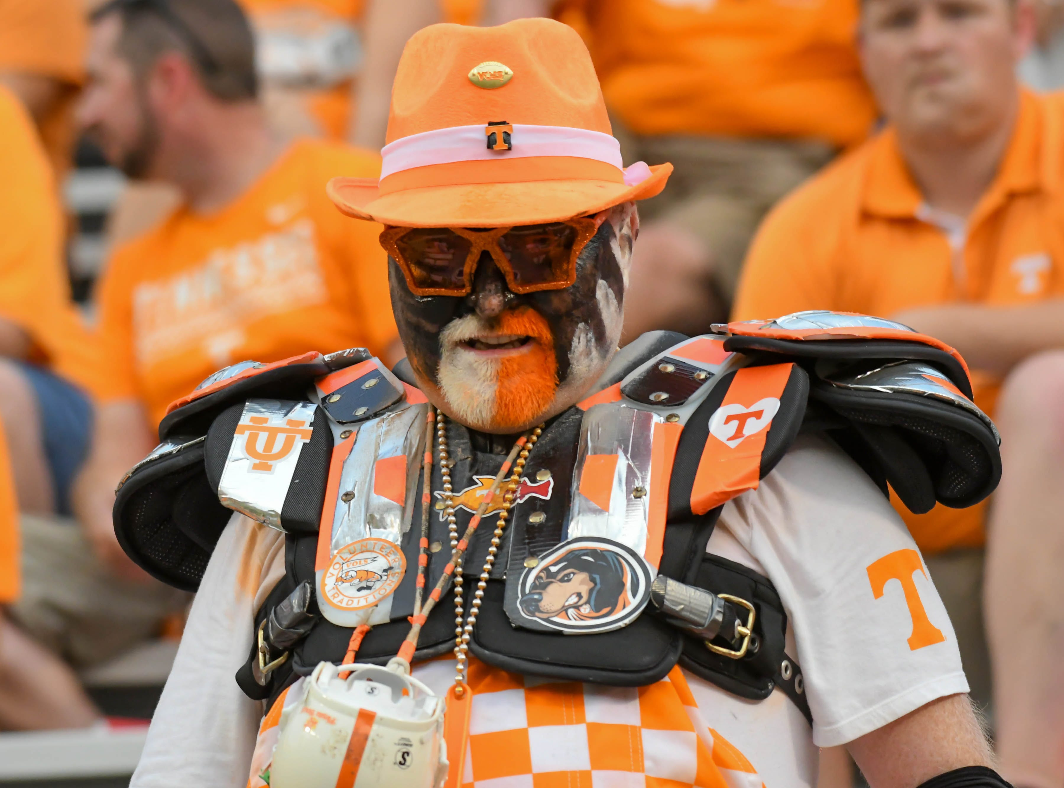 Week 2: A Tennessee Volunteers fan during the second half against the East Tennessee State Buccaneers at Neyland Stadium.