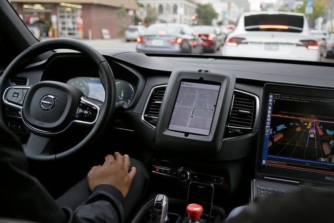 An Uber driverless car
