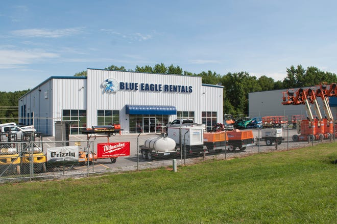 The Blue Eagle Rentals showroom under construction will be identical to the company's store in Spartanburg County