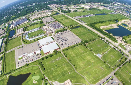 An overview of the National Sports Center in Blaine, Minnesota.
