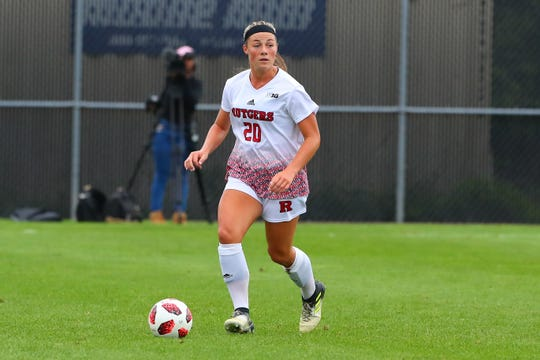 Rutgers women's soccer defender Amanda Visco, a Colts Neck H.S. graduate