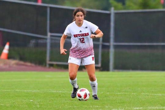 Rutgers women's soccer midfielder Gabby Provenzano, a Hunterdon Central HS graduate.