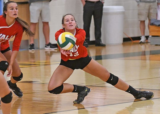 Red Bank Catholic defeats Wall in Girls Volleyball 25-16 and 25-20