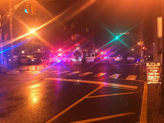 Police activity in Keyport, NJ.