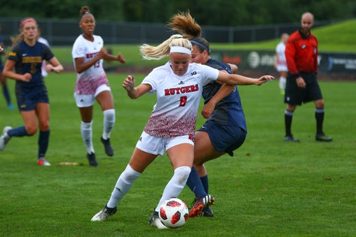 Rutgers women's soccer midfielder Nicole Whitley, a Freehold Township HS grad