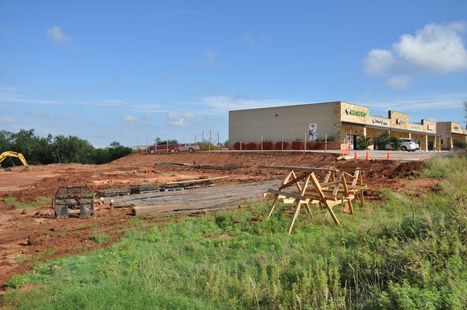Cleared land on Monday is where a third pod is being added to Wylie Junction, a strip center on Buffalo Gap Road, south of Antilley Road. Four more businesses will be in the new pod when it opens in late fall.