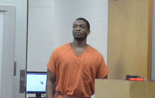 Dontez Boykins of Lansing enters the Calhoun County courtroom before his sentencing for rape.