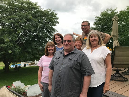 From left: siblings, Nancy Burton, Jody Rickerson, Steven See, Debbie Zeitz, Tim Lumsden and Eileen Holliday.