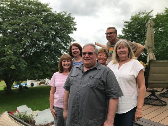 From left: siblings, Nancy Burton, Jody Rickerson, Steven See, Debbie Zeitz, Tim Lumsden and Eileen Holliday.
