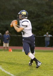 Susquehanna Valley quarterback Jarred Freije scored three touchdowns in the Sabers' 54-12 victory over Dryden on Saturday at SUNY Cortland.