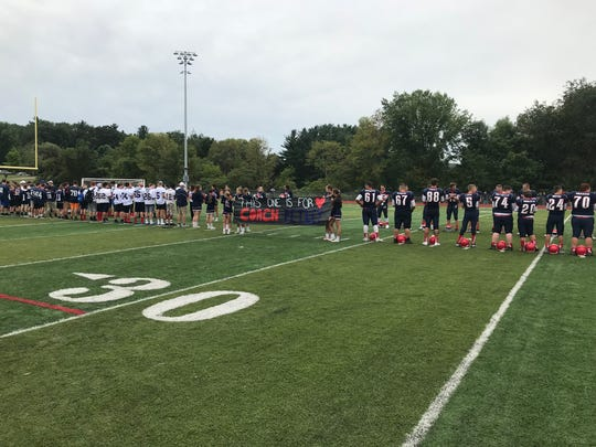 The late John Petley, long-time teacher and coach at Chenango Forks, was honored in a halftime ceremony Saturday.