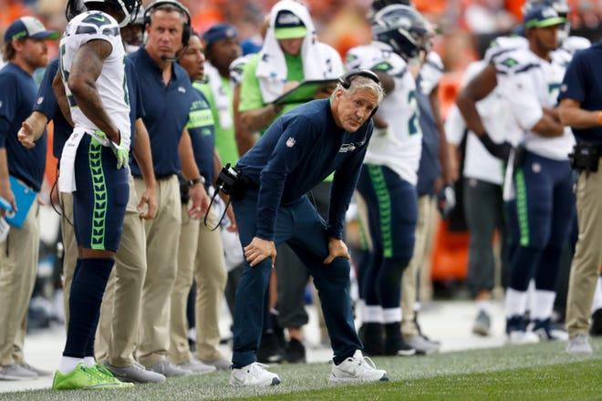 Coach Pete Carroll and the Seahawks have some growing to do, as Sunday's game in Denver proved.