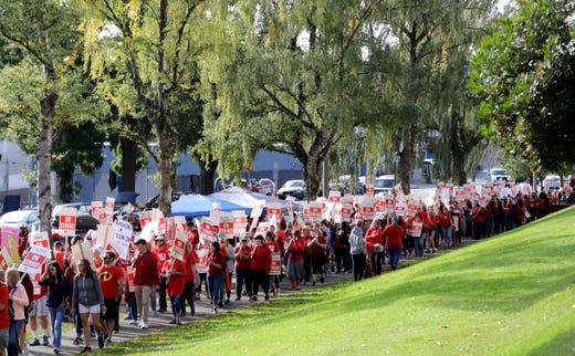 Washington teacher strikes escalate with arbitrator request