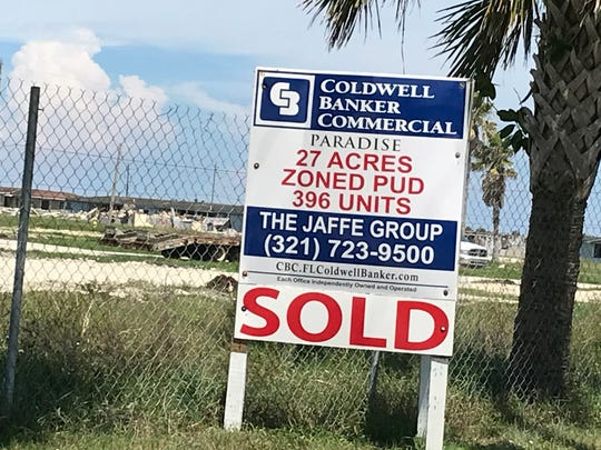 Former military housing along  Shearwater Parkway in Satellite Beach is being cleared to make room for million-dollar-plus condos.