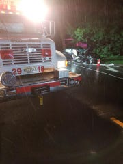 The Williamstown Fire Department and other first responders came to the aid of a crash victim early Sunday on Glassboro Road