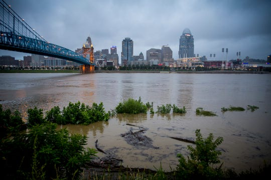 The Ohio river was at 38.6 feet Monday, September 10, 2018.