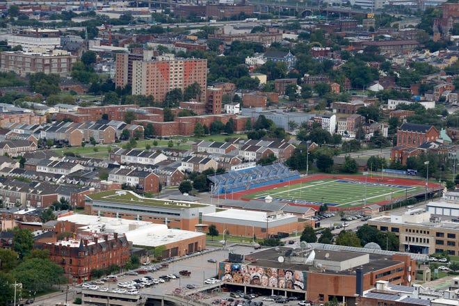 Stargel Stadium at Taft High School in the West End Monday, September 10, 2018. The stadium will become the new FC Cincinnati Stadium.