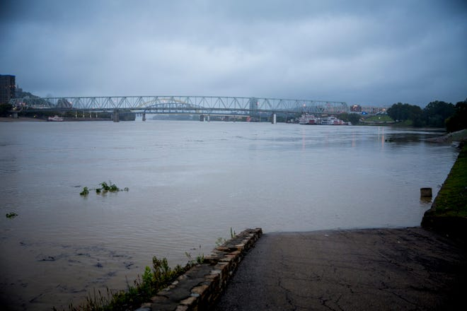Heavy rain over the weekend brought rising water on the Great Miami, Little Miami and the Ohio rivers, but forecasters say only the Ohio River will continue to rise this week. While the Ohio River is not forecast to hit its 52-foot flood stage, the river is expected to continue rising and crest Thursday at 48.5 feet. The river was at 38.6 feet Monday, September 10, 2018.