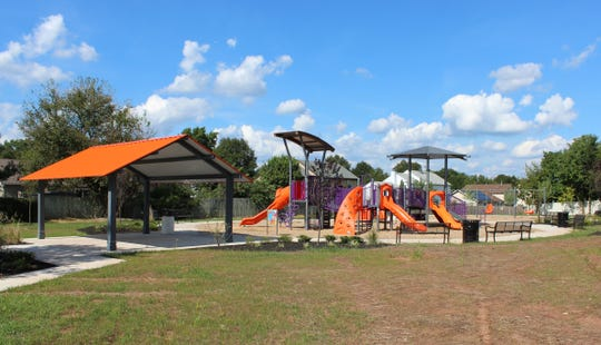 In Piscataway, parents can take advantage of the last few days of warm weather by heading outside to a nearby smart playground, like this one at Sturbridge Park. The township recently finished installing playgrounds with Biba technology that encourages interactive parent-child play sessions.