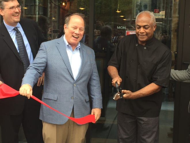 Norma G's restaurant ribbon-cutting