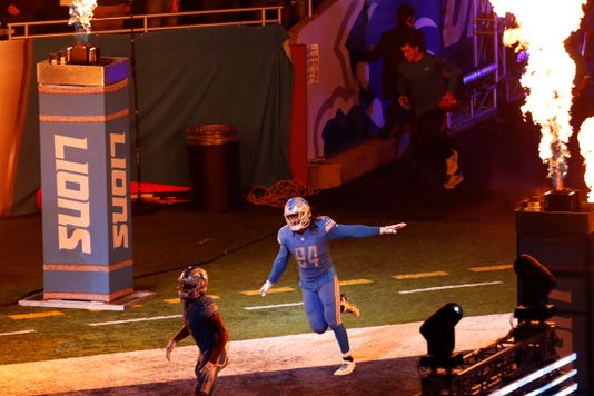 Ziggy Ansah, Detroit Lions intros, Ford Field tunnel
