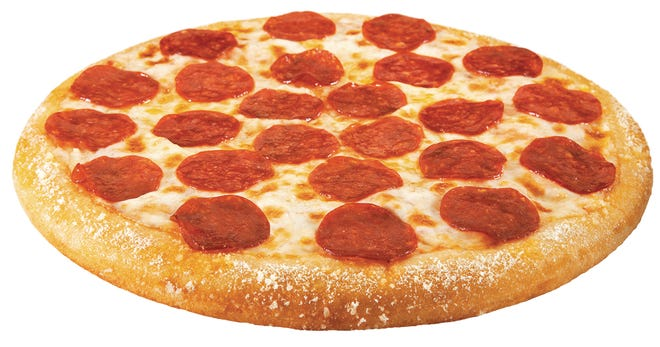 Hungry Howie's one topping pepperoni pizza