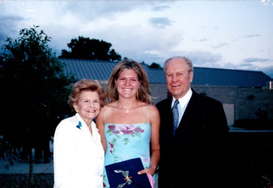 Heather Devers with her grandparents Betty and Gerald R. Ford.