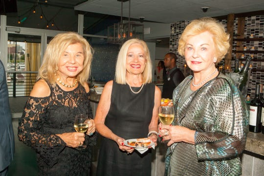Stephanie Germack, Bonnie Lynch and Patricia Rodzik at the private dinner party