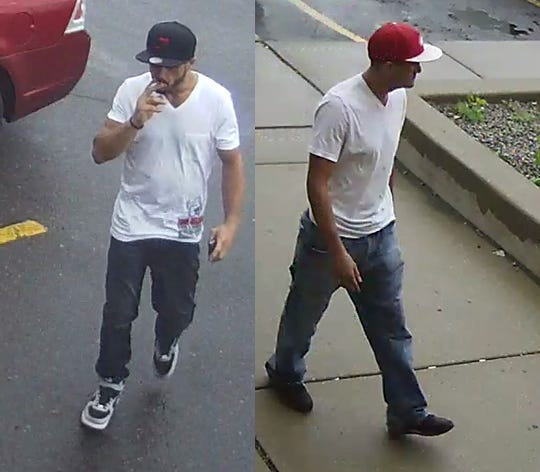 Two men are suspected of trying to use credit cards stolen from vehicles that were broken into, Dearborn police said.