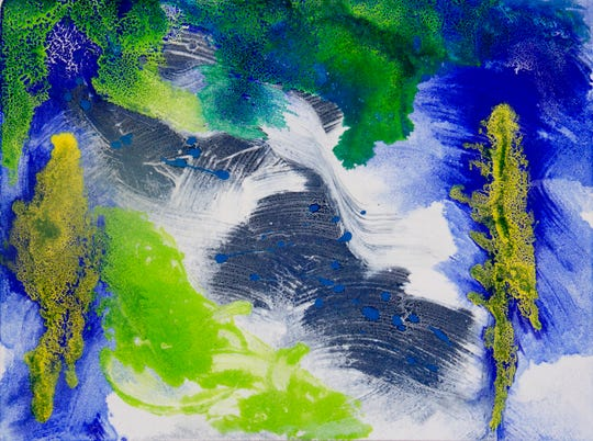"""Image 7068, Inspired by Nature"" by Mary Keithan, in the ArtWorks Detroit auction Thursday."
