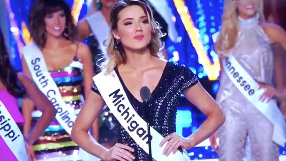 Miss Michigan creates splash with comment on state's water