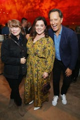 Sissy Spacek, left, Melissa McCarthy and Richard E. Grant attend the Fox Searchlight TIFF Party at the Four Seasons Centre For The Performing Arts during 2018 Toronto International Film Festival.