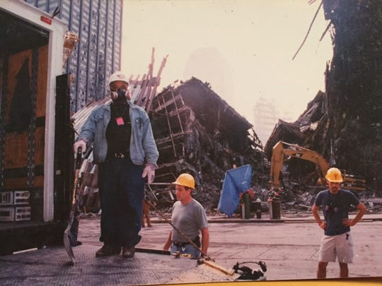 Paul Eliacin, a former Evansville resident who has worked on film and television crews in New York City for about two decades, was a volunteer at Ground Zero in the weeks following the terrorist attacks of Sep. 11, 2001.