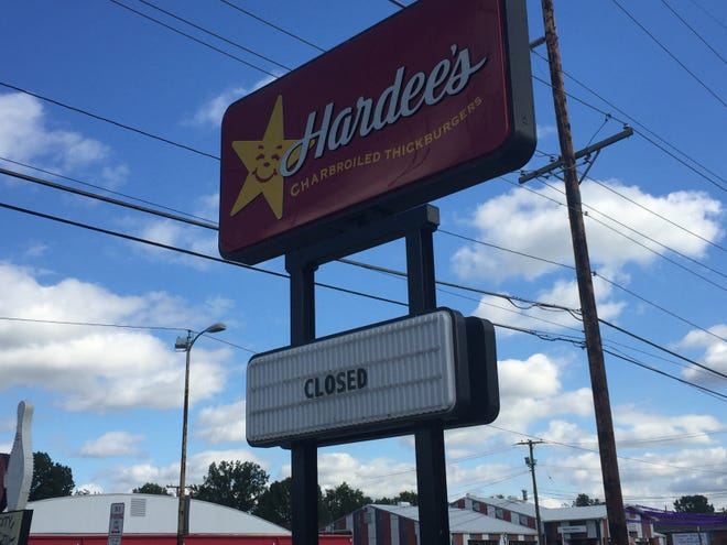 Hardee's on South Weinbach Avenue is no more.