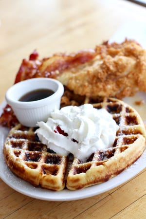 Chicken and waffles from Lola Diner.