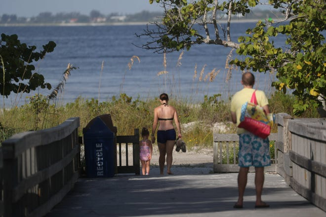 File photo of a scenic access at Bowditch Point Park on Fort Myers Beach. Parking fees at the park are now waived through Sept. 30.
