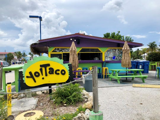 Yo! Taco offers Tex-Mex style fast-casual food from its colorful stand on Fort Myers Beach.