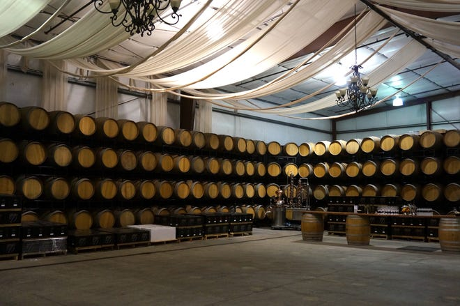 The barrel room at Opolo Vineyards in Paso Robles.