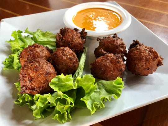 Conch fritters from Yucatan Beach Stand.